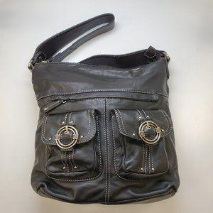 Stone Mountain Black Leather Handbag NEW!